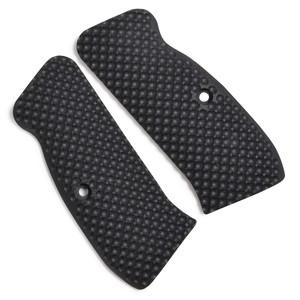 VZ Grips グリップパネル ゴルフボール バック CZ75対応 G10 [ ブラック / ストレート ] G-10 ハンドガングリップ カスタムグリップパネル カスタムパーツ Cz-75 オートマチックピストル
