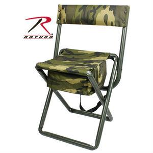 Rothco 折りたたみ椅子 ポーチ付 ウッドランドカモ 4578 スツールポーチ アウトドアチェア 折り畳みイス 折り畳み椅子 折り畳みいす フォールディングチェア