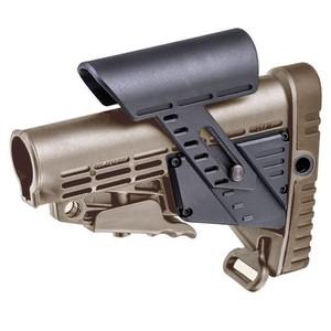 CAAタクティカル 実物 バットストック CBSCP チークピース搭載 AR15/M4対応 [ タン ] CAATactical 銃床 リトラクタブルストック スライドストック M4ストック 実銃パーツ チークレスト チークパッド AR-15