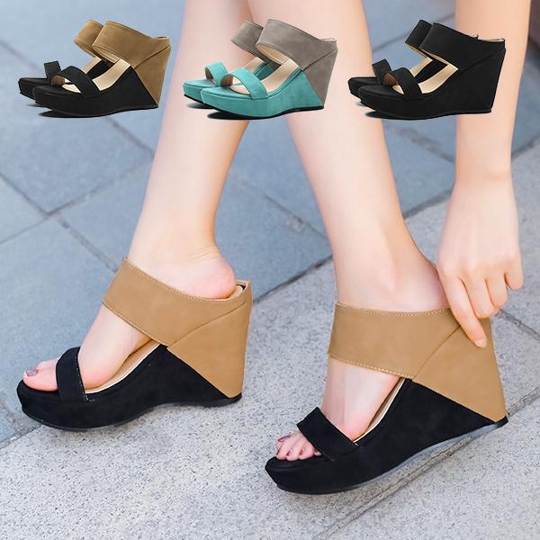 歩きやすい厚底ウェッジソールサンダル はきやすいつっかけタイプのレディースミュールで夏のおでかけ 疲れない厚底サンダルはウエッジソール春夏に大活躍する婦人靴 新発売 サンダル レディース ヒール 厚底 ウェッジソール 歩きやすい 厚底サンダル ミュール 疲れない つっかけサンダル レディースサンダル 黒 ki5 高い 大きいサイズ ウエッジソール 夏 ヒール10cm ブーツサンダル ハイヒール P 痛くない かわいい 贈与 おしゃれ