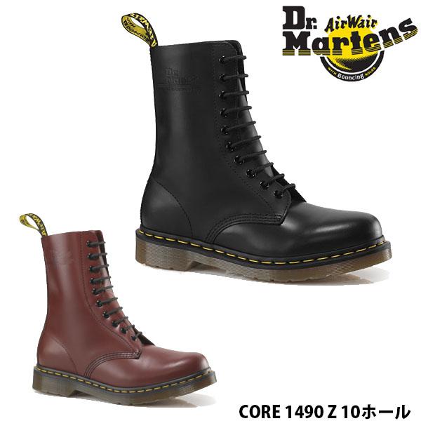 ブーツ 10EYE 10092600 10092001 送料無料 ドクターマーチン 10ホール CORE 1490 Z ブーツ メンズ レディース 女性用 男性用 DMS 10HOLE BOOT ブラック 黒 チェリーレッド 赤 Dr.Martins DRM10092 国内正規品