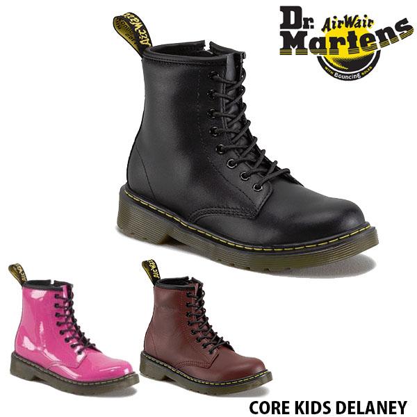送料無料 ドクターマーチン キッズ ブーツ 8ホール CORE DM J ローカット 子供用ブーツ 靴 くつ クツ 子ども ブラック 黒 チェリーレッド ホットピンク 8EYE CORE DM J BOOT Dr.Martins DRM15382 国内正規品
