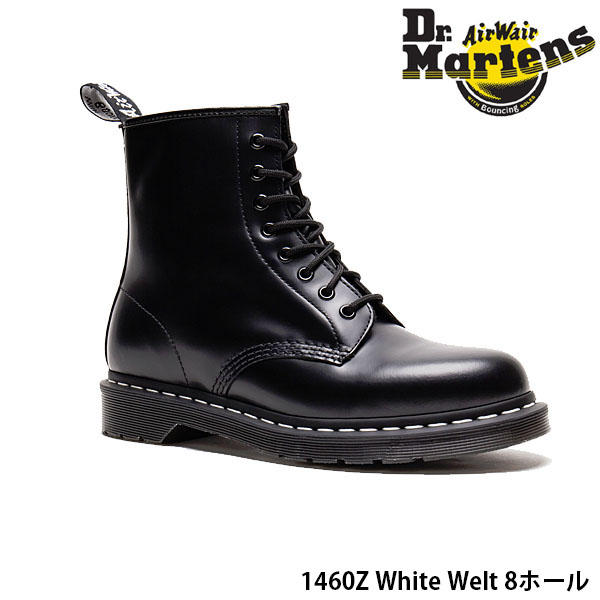 送料無料 ドクターマーチン メンズ レディース 8ホール ブーツ CORE 1460Z ホワイトウェルト ホワイトステッチ エイトホールブーツ レザー カジュアル WHITE WELT Dr.Martens DRM24758 国内正規品