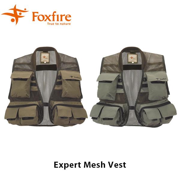 送料無料 フォックスファイヤー Foxfire メンズ エキスパートメッシュベスト ベスト 釣り フィッシングギア フィッシング 釣り具 男性用 Expert Mesh Vest FOX5010669