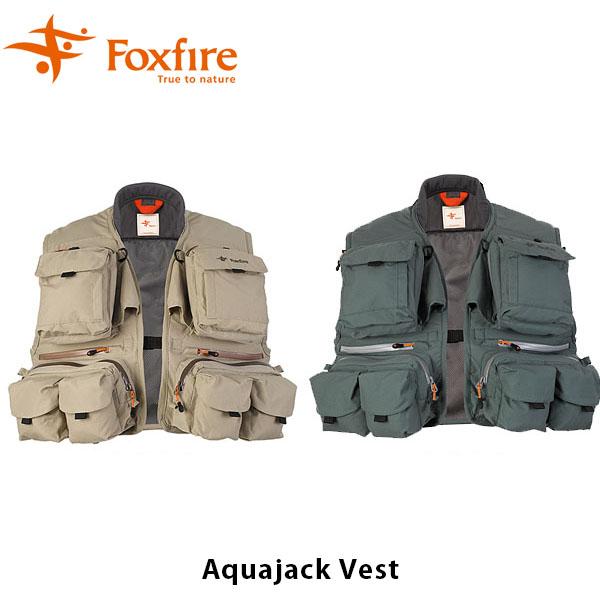 送料無料 フォックスファイヤー Foxfire メンズ アクアジャックベスト 釣り フィッシングギア フィッシング 釣り具 Aquajack Vest 男性用 FOX5010850