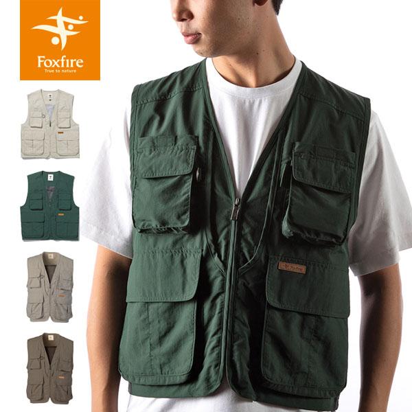 送料無料 フォックスファイヤー Foxfire メンズ サプレックスガイドベストII ベスト 釣り フィッシングギア フィッシング 釣り具 男性用 Supplex GuiDe Vest FOX5610055