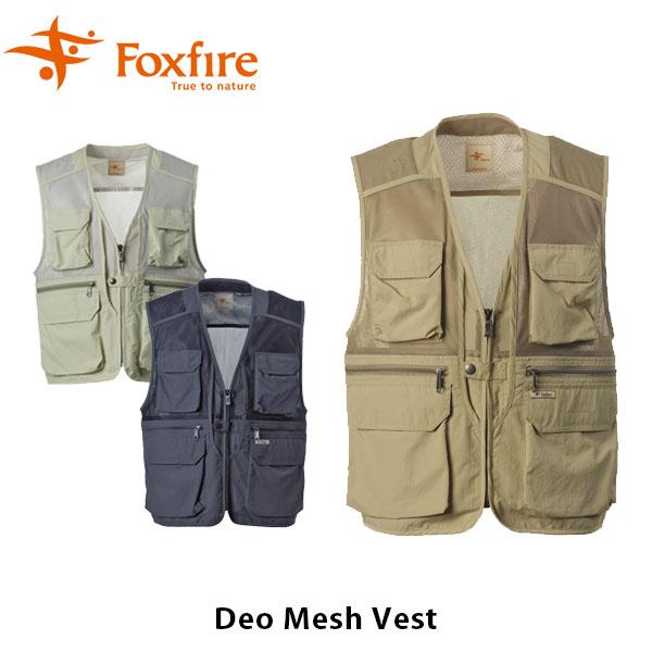 送料無料 フォックスファイヤー Foxfire メンズ DeO.メッシュベスト 釣り フィッシング アウトドア キャンプ フィッシングギア アウトドアギア ブラック 黒 男性用 Deo Mesh Vest FOX5610732
