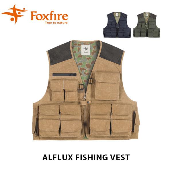 送料無料 フォックスファイヤー Foxfire メンズ フィッシングベスト アルフラックスフィッシングベスト Alflux Fishing Vest 釣り FOX6110801