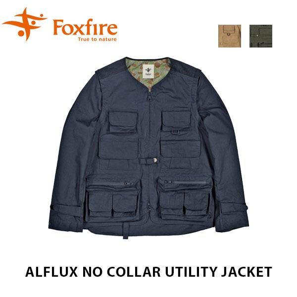 送料無料 フォックスファイヤー Foxfire メンズ フィッシングジャケット アルフラックスノーカラーユーティリティジャケット 2ウェイ Alflux No Collar Utility Jacket 釣り フィッシングベスト 2WAY FOX6113807