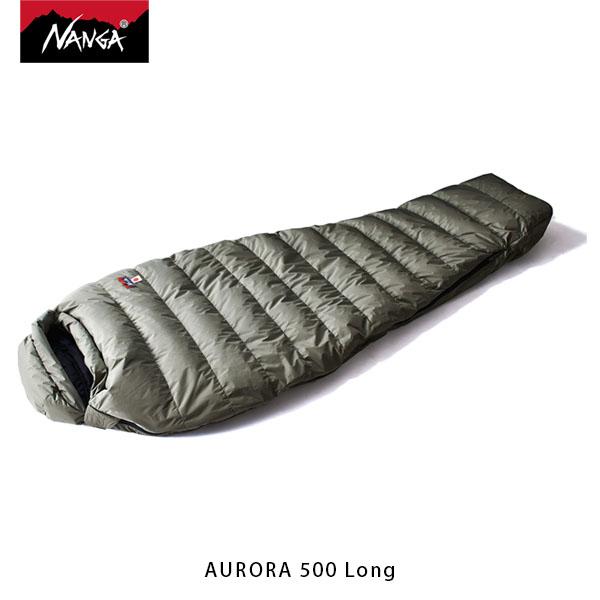 NANGA ナンガ 寝袋 オーロラ500 STD ロング AURORA 500 Long 3シーズン ダウン シュラフ マミー型 アウトドア キャンプ 登山 NAN121