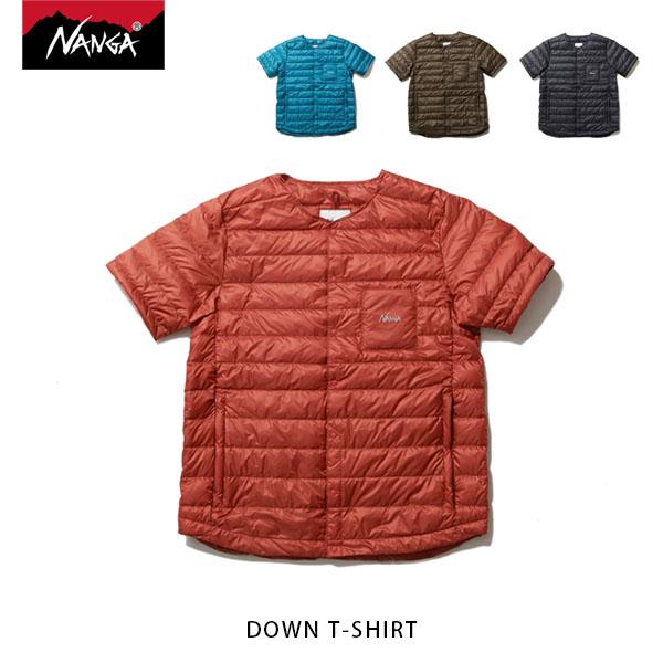 送料無料 NANGA ナンガ ダウンTシャツ DOWN T-SHIRT 半袖ダウンベスト アウトドア NAN138