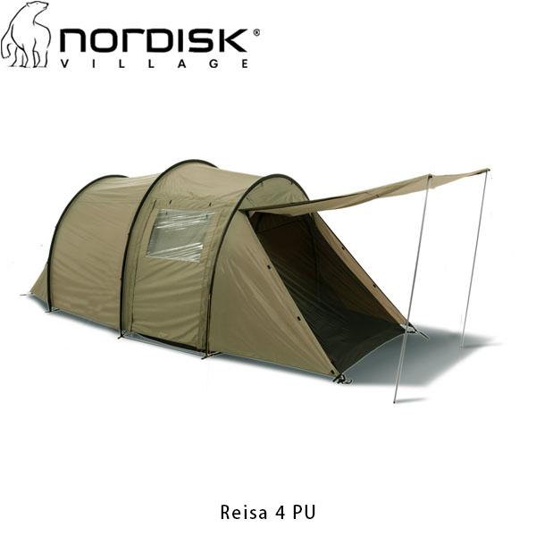 送料無料 NORDISK ノルディスク レイサ4 PU ベージュ Reisa 4 PU Tent Beige 日本限定カラー 4人用テント キャンプ アウトドア 122040 NOR122040 国内正規品