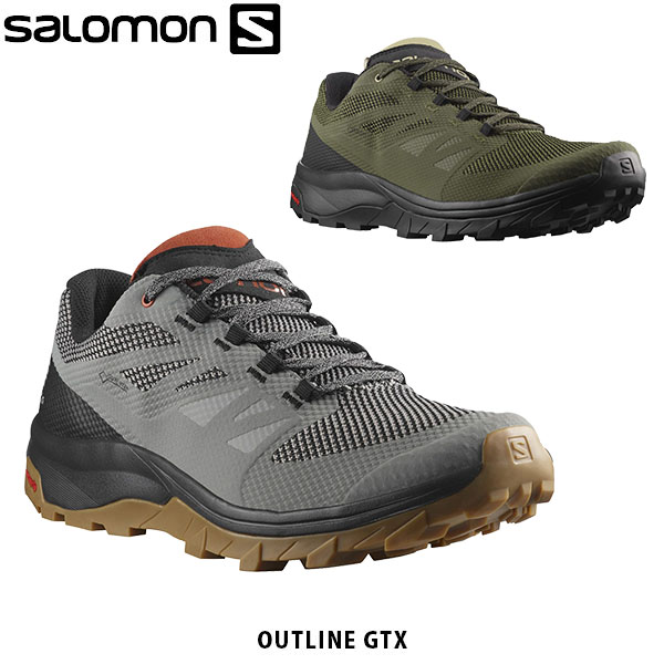 Salomon SALOMON men hiking shoes OUTLINE MID GTX mid cut GORE TEX Gore Tex waterproofing vapor transmission outdoor mountain climbing mountain
