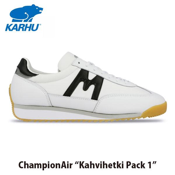 送料無料 KARHU カルフ メンズ レディース スニーカー チャンピオンエア CHAMPIONAIR ホワイト×ブラック ローカット 定番 フィンランド 北欧 KH805015