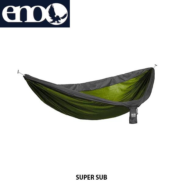 送料無料 eno イノー ハンモック スーパーサブ SUPER SUB ダブルネストサイズ アウトドア キャンプ キャンプ道具 アウトドア寝具 LICHEN×CHARCOAL 811201017373 LS049 ENO014