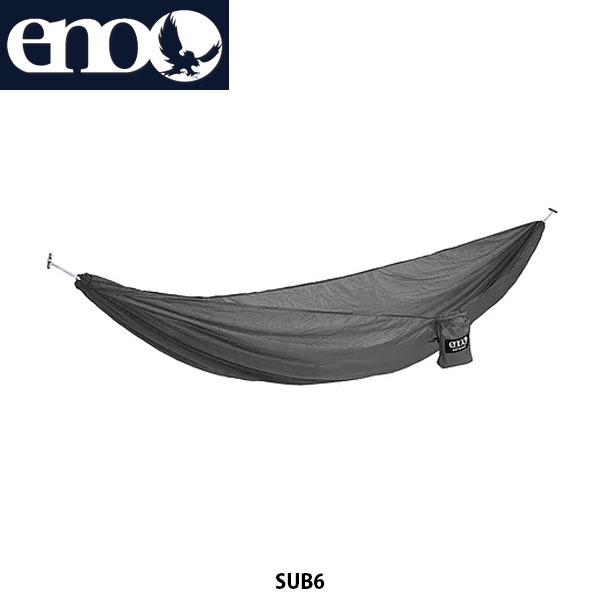 送料無料 eno イノー ハンモック サブ6 SUB 6 軽量 コンパクト アウトドア キャンプ キャンプ道具 アウトドア寝具 チャコール LH6039 ENO019
