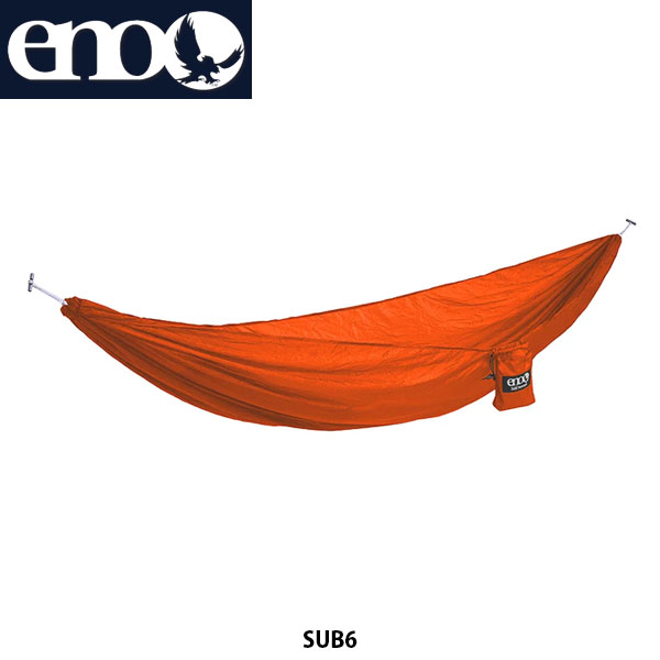 送料無料 eno イノー ハンモック サブ6 SUB 6 軽量 コンパクト アウトドア キャンプ キャンプ道具 アウトドア寝具 オレンジ LH6093 ENO020