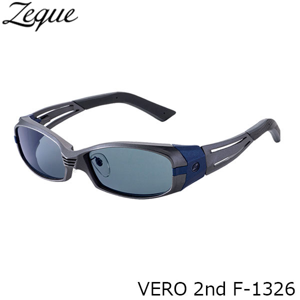 送料無料 ジールオプティクス 偏光サングラス F-1326 VERO 2nd GUNMETAL×NAVY MASTER BLUE 釣り フィッシング アウトドア メンズ レディース 偏光グラス 偏光レンズ ZEAL OPTICS GLE4580274166566