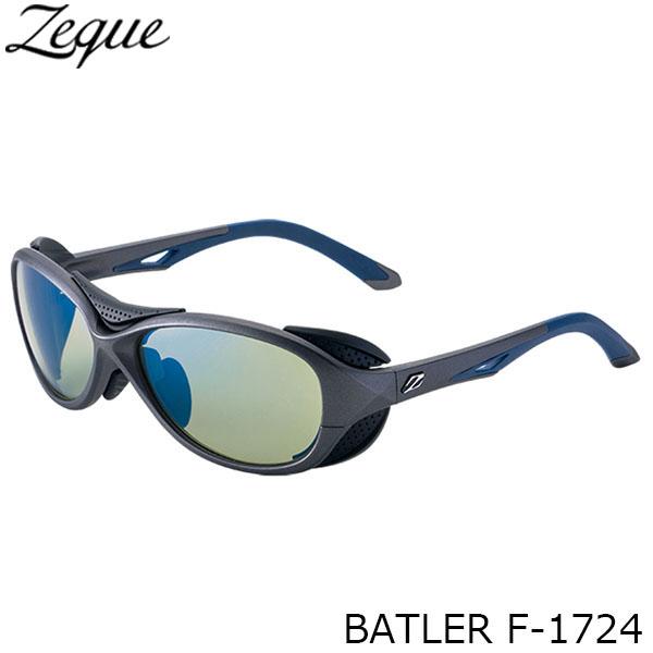 送料無料 Zeque ゼクー ジールオプティクス 偏光サングラス F-1724 BATLER GUNMETAL×NAVY EASE GREEN×BLUE MIRROR 釣り フィッシング アウトドア メンズ レディース 偏光グラス 偏光レンズ ZEAL OPTICS GLE4580274166641