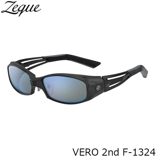 送料無料 ジールオプティクス 偏光サングラス F-1324 VERO 2nd ALL MATTE BLACK TRUEVIEW SPORTS×BLUE MIRROR 釣り フィッシング アウトドア メンズ レディース 偏光グラス 偏光レンズ ZEAL OPTICS GLE4580274166887