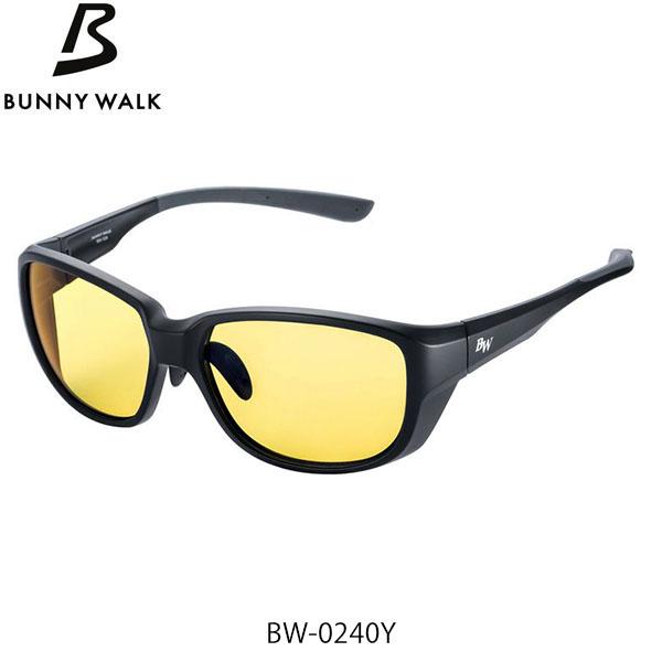 希望者のみラッピング無料 偏光グラス フィッシング 釣具 BUNNY WALK バニーウォーク ハイクオリティ 偏光サングラス GLASSES BW-0240Y YELLOW×NIGHT マットブラック BLACK MATTE GLE4580274171577