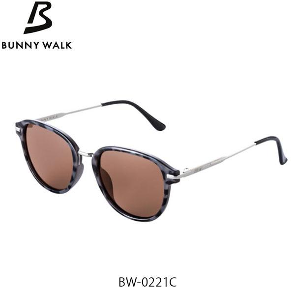 送料無料 BUNNY WALK 偏光サングラス バニーウォーク BW-022 BW-0221C BLACK DEMI HC-BROWN/POPUP LENS GLE4580274171492