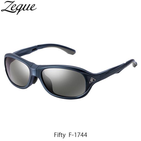 送料無料 Zeque ゼクー ジールオプティクス ZEAL OPTICS 折りたたみ式偏光サングラス Fifty F-1744 フィフティ フレームSHINY NAVY レンズTRUEVIEW FOCUS×SILVER MIRROR GLE4580274167303