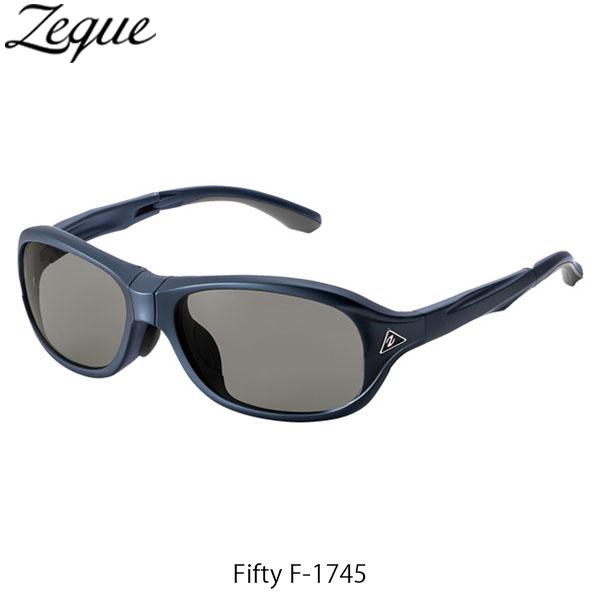 送料無料 Zeque ゼクー ジールオプティクス ZEAL OPTICS 折りたたみ式偏光サングラス Fifty F-1745 フィフティ フレームSHINY NAVY レンズTRUEVIEW SPORTS GLE4580274167310
