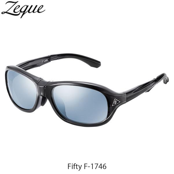 送料無料 Zeque ゼクー ジールオプティクス ZEAL OPTICS 折りたたみ式偏光サングラス Fifty F-1746 フィフティ フレームCLEAR BLACK レンズMASTER BLUE×SILVER MIRROR GLE4580274167327