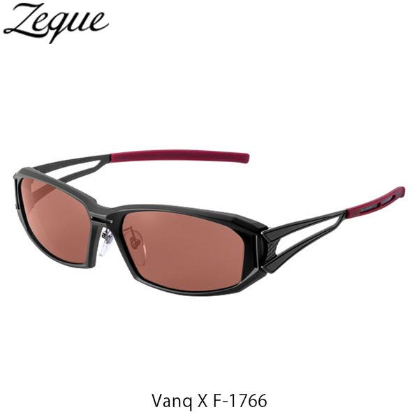 送料無料 Zeque ゼクー ジールオプティクス ZEAL OPTICS 偏光サングラス Vanq X F-1766 ヴァンク エックス フレームMATTE BLACK レンズACTION COPPER GLE4580274167440