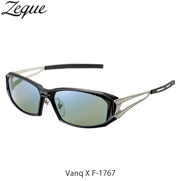 送料無料 Zeque ゼクー ジールオプティクス ZEAL OPTICS 偏光サングラス Vanq X F-1767 ヴァンク エックス フレームBALCK×SILVER レンズEASE GREEN×BLUE MIRROR GLE4580274167457