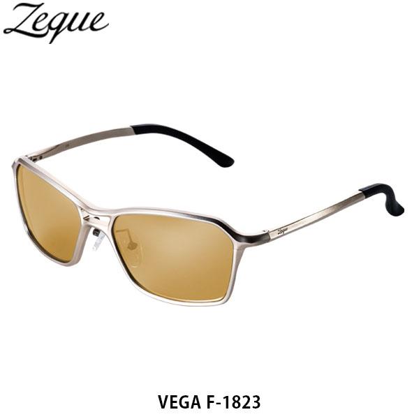 送料無料 ゼクー Zeque 偏光サングラス 偏光グラス VEGA ヴェガ F-1823 GOLD LUSTER ORANGE 釣り フィッシング ジールオプティクス ZEAL OPTICS GLE4580274168089