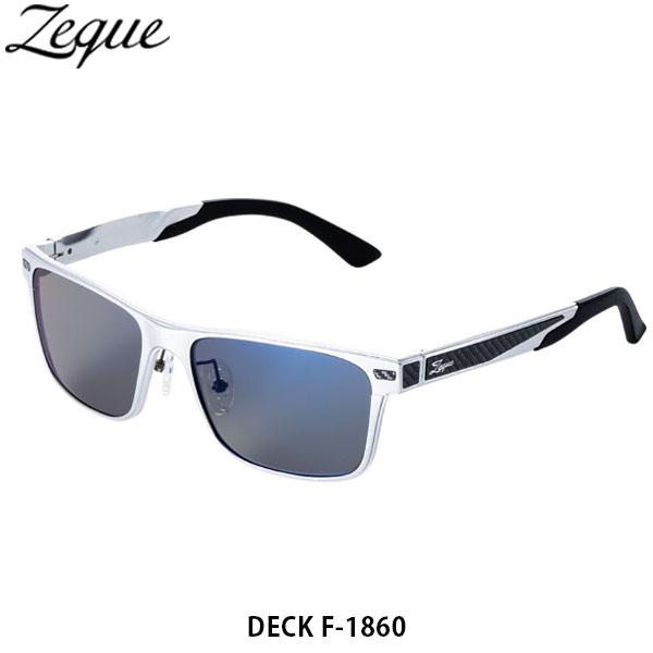 送料無料 ゼクー Zeque 偏光サングラス 偏光グラス DECK デック F-1860 SILVER TRUEVIEW SPORTS / BLUE MIRROR 釣り フィッシング ジールオプティクス ZEAL OPTICS GLE4580274168218