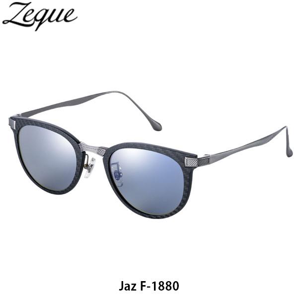送料無料 ゼクー Zeque 偏光サングラス 偏光グラス Jaz ジャズ F-1880 BLACK & SILVER TRUEVIEW SPORTS / BLUE MIRROR 釣り フィッシング ジールオプティクス ZEAL OPTICS GLE4580274168294
