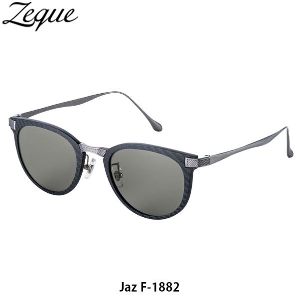 送料無料 ゼクー Zeque 偏光サングラス 偏光グラス Jaz ジャズ F-1882 BLACK & SILVER TRUEVIEW 釣り フィッシング ジールオプティクス ZEAL OPTICS GLE4580274168317