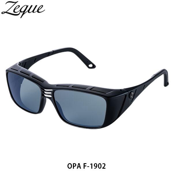 送料無料 ゼクー Zeque 偏光サングラス 偏光グラス OPA オーパ F-1902 MATTE BLACK MASTER BLUE 釣り フィッシング ジールオプティクス ZEAL OPTICS GLE4580274168584
