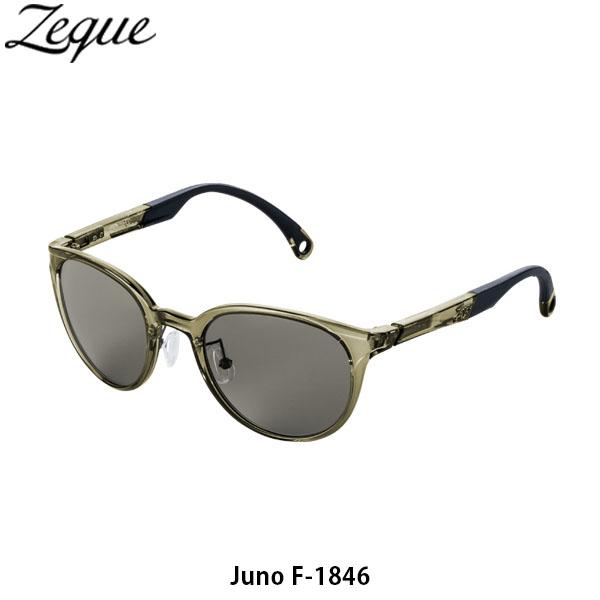 送料無料 ゼクー Zeque 偏光サングラス ジュノ F-1846 (TV) フレーム CLEAR OLIVE レンズ TRUEVIEW 偏光グラス 釣り フィッシング ジールオプティクス ZEAL OPTICS GLE4580274168195