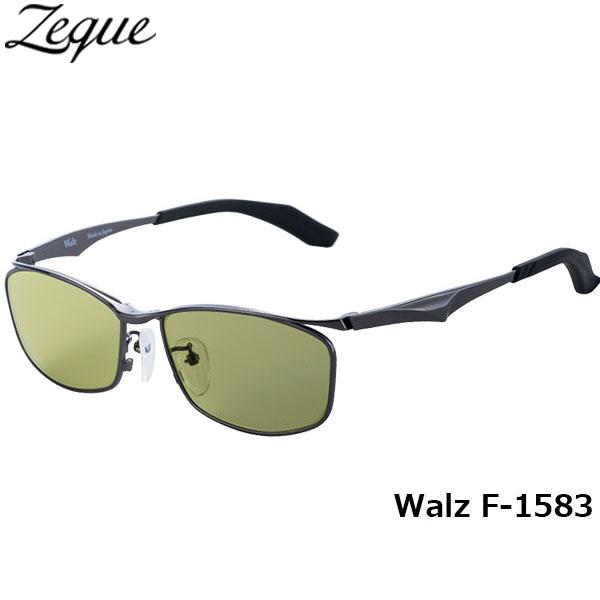 送料無料 Zeque ゼクー ジールオプティクス ZEAL OPTICS 偏光サングラス Walz ワルツ F-1583 ガンメタル イーズグリーン グレンフィールド GLE4580274165668 釣り フィッシング アウトドア メンズ レディース 偏光グラス 偏光レンズ
