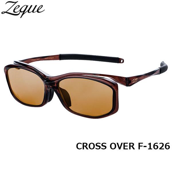 送料無料 Zeque ゼクー ジールオプティクス ZEAL OPTICS 偏光サングラス CROSS OVER クロスオーバー F-1626 クリアブラウン ラスターオレンジ グレンフィールド GLE4580274166030 釣り フィッシング アウトドア メンズ レディース 偏光グラス 偏光レンズ