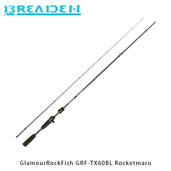 送料無料 ブリーデン BREADEN ライトゲームロッド GlamourRockFish GRF-TX60BL Rocketmaru ベイトキャスティング BRI4571136851751