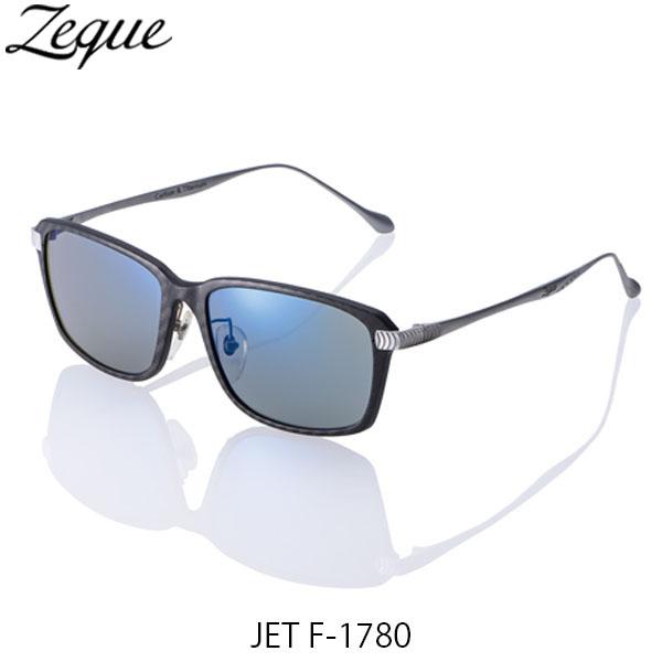送料無料 Zeque ゼクー ジールオプティクス 偏光サングラス ジェット JET F-1780 ブラック×シルバー トゥルービュースポーツ×ブルーミラー 釣り フィッシング アウトドア 偏光グラス 偏光レンズ ZEAL OPTICS GLE4580274167495