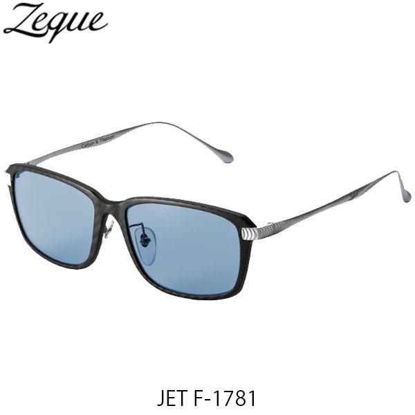 送料無料 Zeque ゼクー ジールオプティクス 偏光サングラス ジェット JET F-1781 ブラック×シルバー マスターブルー 釣り フィッシング アウトドア 偏光グラス 偏光レンズ ZEAL OPTICS GLE4580274167501