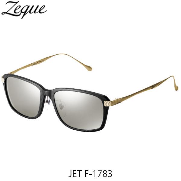 送料無料 Zeque ゼクー ジールオプティクス 偏光サングラス ジェット JET F-1783 ブラック×ゴールド トゥルービュースポーツ×シルバーミラー 釣り フィッシング アウトドア 偏光グラス 偏光レンズ ZEAL OPTICS GLE4580274167525