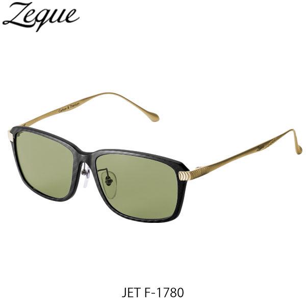送料無料 Zeque ゼクー ジールオプティクス 偏光サングラス ジェット JET F-1784 BLACK&GOLD EASE GREEN ブラック×ゴールド イースグリーン 釣り フィッシング アウトドア 偏光グラス 偏光レンズ ZEAL OPTICS GLE4580274167532