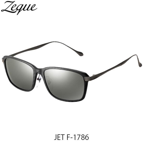 送料無料 Zeque ゼクー ジールオプティクス 偏光サングラス ジェット JET F-1786 ブラック&レッド×ガンメタル トゥルービューフォーカス×シルバーミラー 釣り フィッシング アウトドア 偏光グラス 偏光レンズ ZEAL OPTICS GLE4580274167556