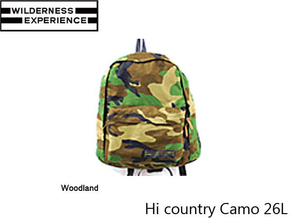 ウィルダネスエクスペリエンス バックパック ハイカントリー Hi country Camo 26L WILDERNESS EXPERIENCE WIL027