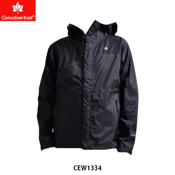 送料無料 カナディアンイースト メンズ 3レイヤーマウンテンジャケット ブラック Mountain Jacket Men 防水 透湿 コンパクト 登山 アウトドア Canadian East CEW1334