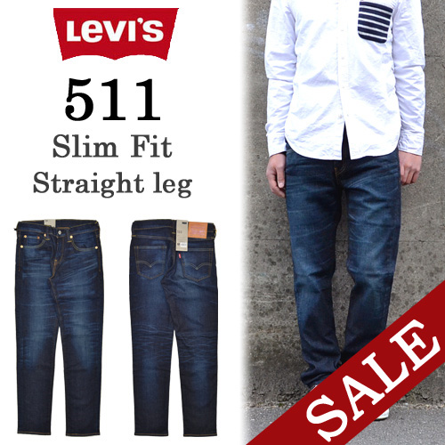 2050f4f7f42c3 00511-1400 Levi s( Levis) 511 skinny fitting stretch material dark vintages