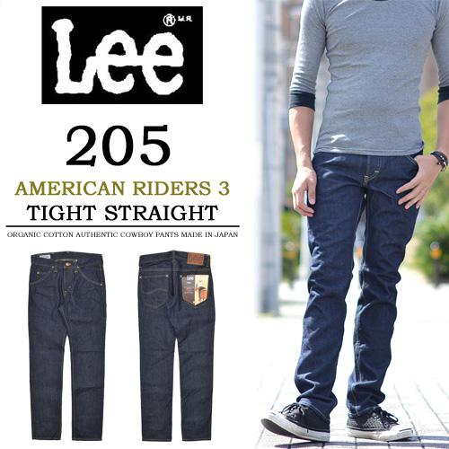 【送料無料】Lee(リー) AMERICAN RIDERS アメリカンライダース 205 タイトストレート LM5205-500 ワンウォッシュ