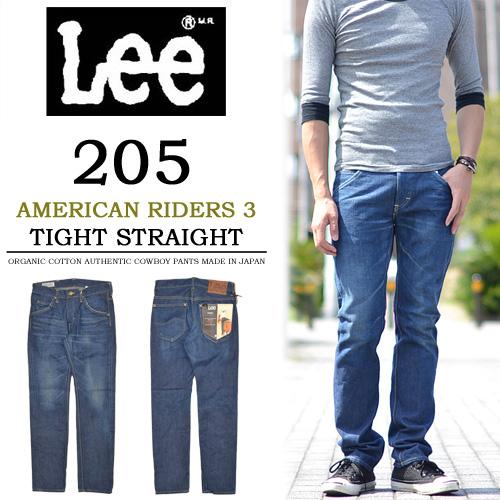 【送料無料】Lee(リー) AMERICAN RIDERS アメリカンライダース 205 タイトストレート LM5205-446 淡色ブルー
